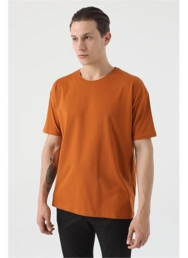 TWN Oversize Düz T-Shirt Kahve